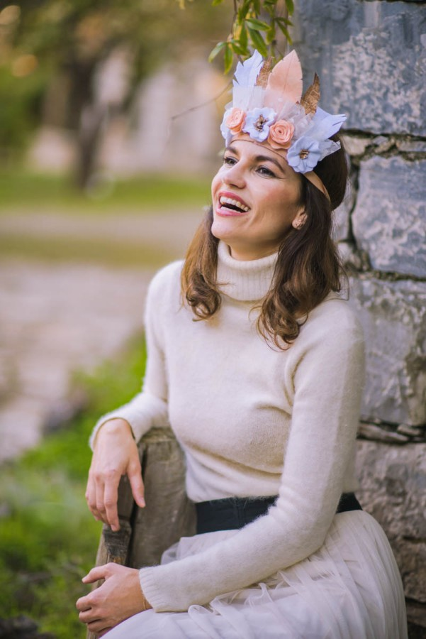 latrakia, handmade felt crowns, fairies