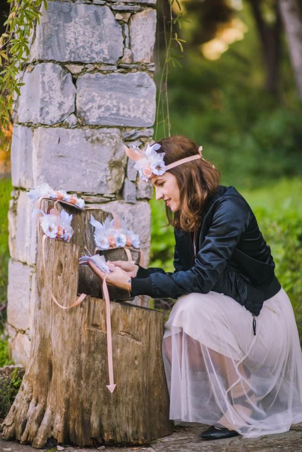 latrakia, handmade felt crowns, fairies into the woods